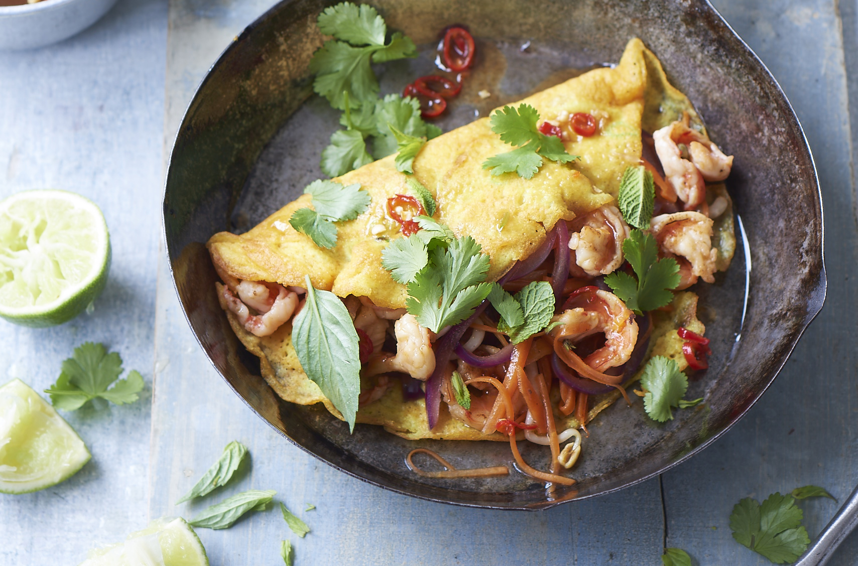 Gizzi Erskine's Vietnamese Pancakes with Prawns - Quality Food and Drink