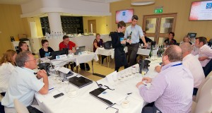 Judges put their palates to the test for the wine judging session