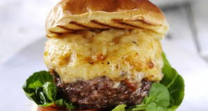 The new Extra Special Truffle Mac 'n' Cheese Topped Beef Burger.