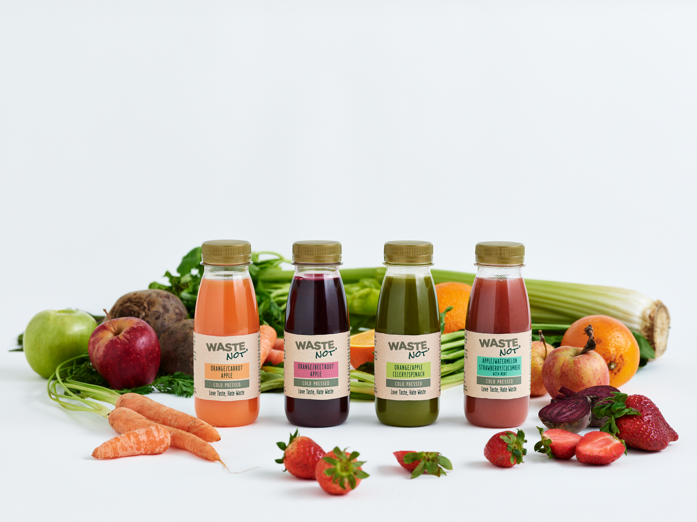 Cold-pressed juices from wonky fruit and veg launch in Tesco
